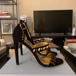 Prada Strap Sandals with bead detailing
